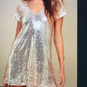 Lulus Sequin Party Shift Dress